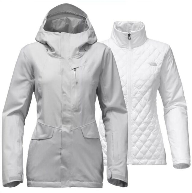 d466b4099 North Face Womens Thermoball Triclimate Jacket A34nq TNF Light Grey Extra  Small