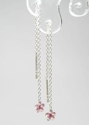 Nuovo Argento 925 Orecchini Da Zieher Swarovski Pietre Rosa/light Rose Orecchini-mostra Il Titolo Originale