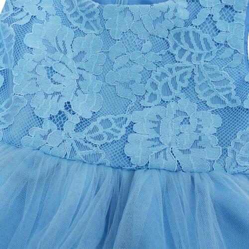 Girl Princess Dress Flower Baby Wedding Birthday Gown Christening Party Dresses