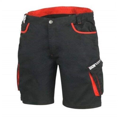 IXS Denton Mens Work Short Cargo Shorts Pocket Utility Motorcycle Black Red J/&S