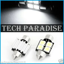 1x Ampoule Navette 31mm C3W C5W C7W C10W 4 LED Anti erreur CanBus Blanc White