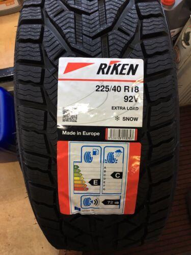 New 225 40 18 RIKEN WINTER SNOW COLD WINTER TYRE 225//40R18 1 tyre