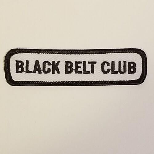"Black Belt Club Embroidered Patch Martial Arts Karate 4/"" x 1/"" Lot of 25  AL"