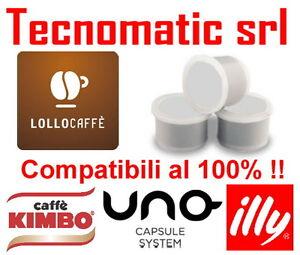 100 CAPSULE CAFFE LOLLO NERO NERA COMPATIBILI UNO SYSTEM INDESIT KIMBO ILLY