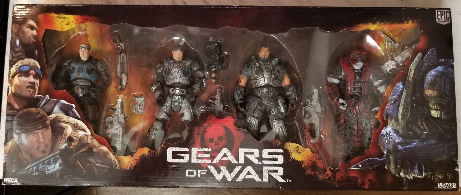 Gears of War Series 2 NECA Box Set Baird, Fenix, Dom, Theron ULTRA RARE
