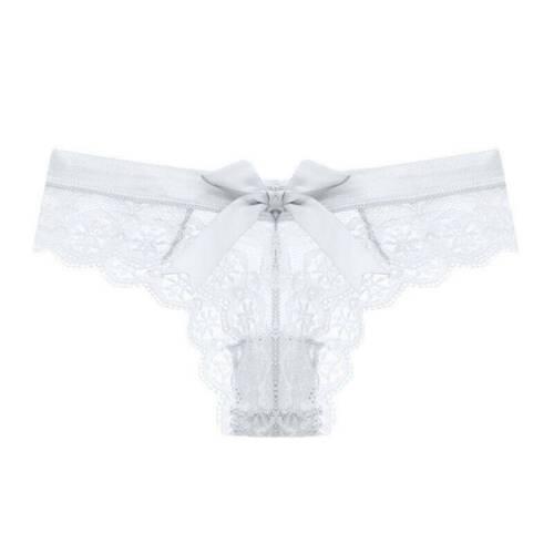Women Ladies Flower Lace Underwear Bikini Thongs Panties Briefs Underwear M-XXL