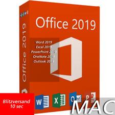 Microsoft Office 2019 Home & Business FOR MAC OS Lizenz für 1 MAC MS Office 2019