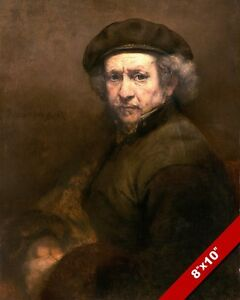 SELF PORTRAIT OF REMBRANDT VAN RIJN ARTIST PAINTING ART REAL CANVAS GICLEEPRINT