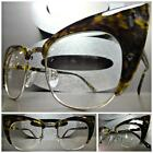 CLASSIC VINTAGE RETRO CAT EYE Style Clear Lens EYE GLASSES Tortoise Silver Frame