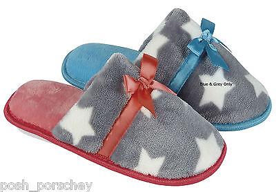 Calidad de piel de mujer dama Comodidad Suave Mula Resbalón en Zapatillas Zapatos UK 3-8