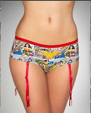 Wonder Woman panties with garters NEW - Size L (Large)