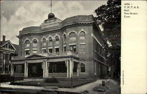 New-Britain-CT-YMTAB-Hall-c1910-Postcard