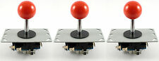 3 x Sanwa Style Ball Top Arcade Joysticks, 8 Way (Red) - MAME, JAMMA