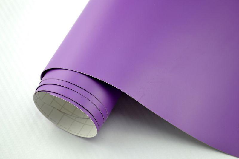 m2 voiture film Violet Mat 900 x 152 cm flexible bulles mouvement Car Wrapping