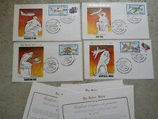 REPUBBLICA  4  BUSTE FDC 1982 SERIE GOLD CON CERTIFICATO   CAT. N° 1