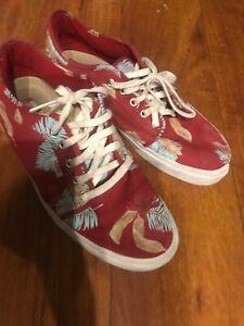 vans shoes hawaiian print