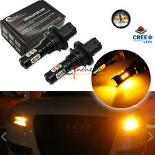 Amber Error Free PH24WY LED Bulbs For Audi Cadillac etc Front Turn Signal Lights