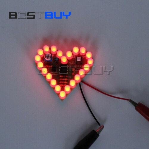 DIY Heart Shape Breathing Lamp Electronic Kit DC4V-6V for student DecorBBC