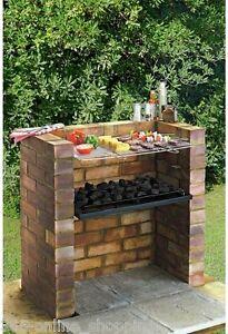 Image Is Loading NEW DIY BUILT IN BRICK OUTDOOR GARDEN BBQ