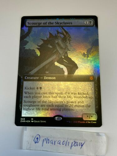 X1 FOIL SCOURGE OF THE SKYCLAVES 343 EXTENDED ART ZENDIKAR RISING MTG CARD M