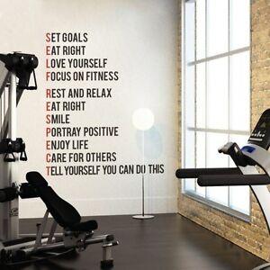 gym fitness wall sticker motivational quote vinyl art