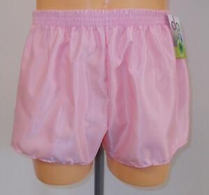 Pink Retro Nylon Satin Football Shorts S White 4XL