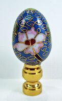 Lamp Finial Blue Cloisonne Egg Topper (j13)