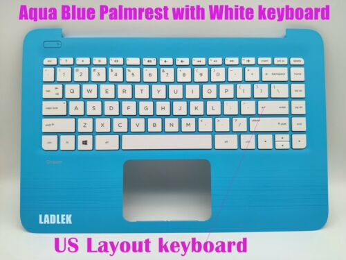 New US white keyboard for HP Stream 14-ax//14-cb Blue Palmrest no touchpad