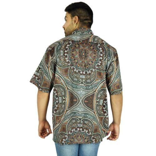 Hawaiian Short Sleeve Men/'s Shirt Button Down Printed Beach Wear CLOTHING EDH