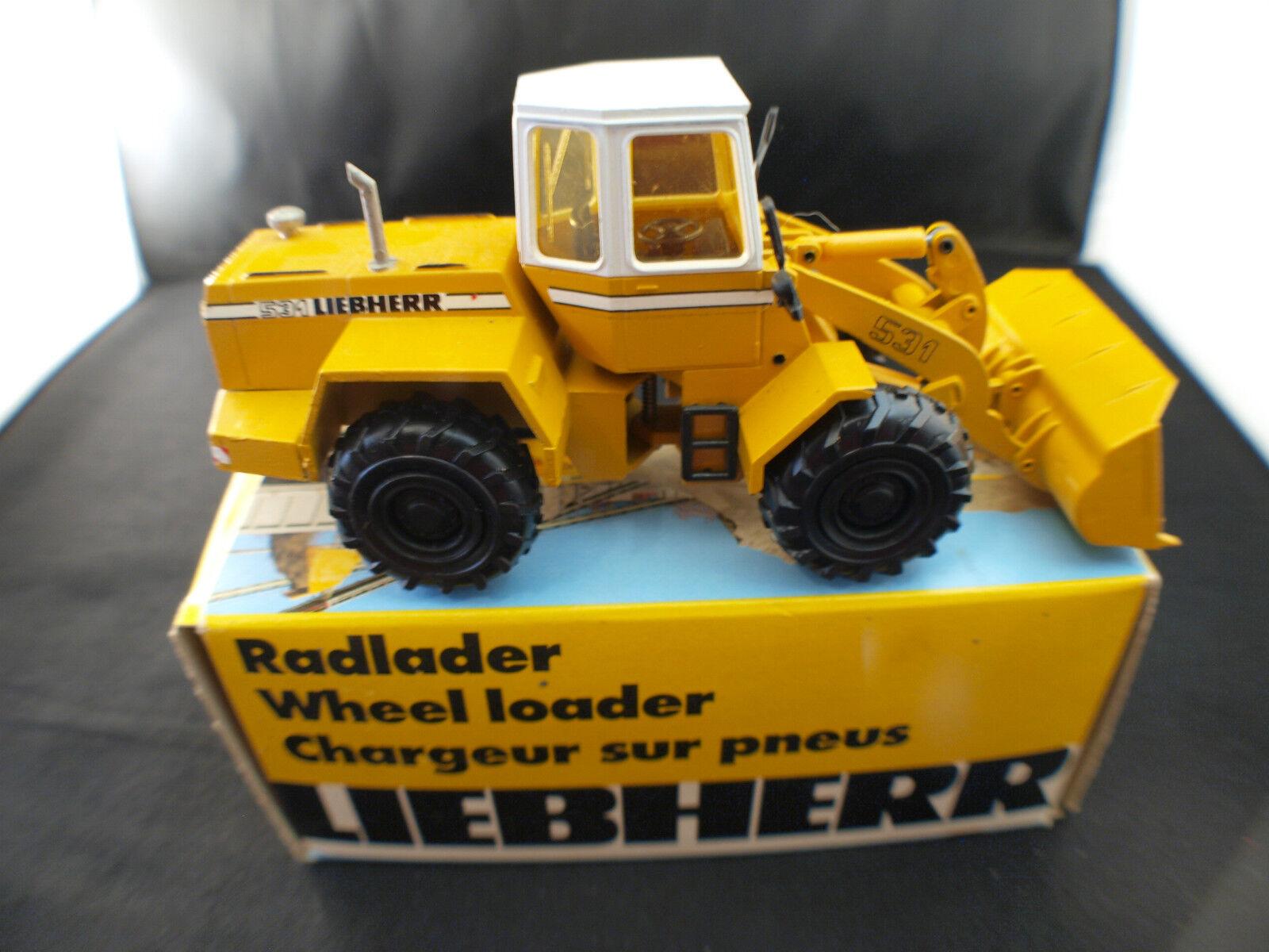 Conrad Liebherr L 531 chargeur sur pneus Radlader Wheel lader neuf mint box 1 50