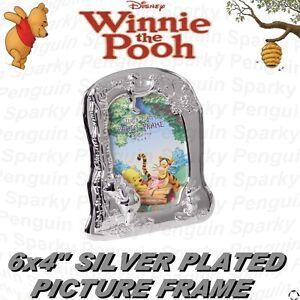 Silver winnie the pooh photo frame