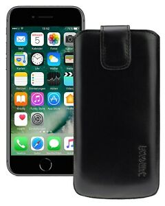 IPHONE-Se-2-2020-Case-Leather-Cell-Pouch-IN-Black-Silicone-SE2