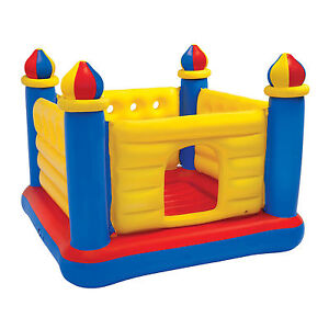 Intex-Inflatable-Colorful-Jump-O-Lene-Kids-Ball-Pit-Castle-Bouncer-for-Ages-3-6