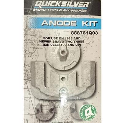 888761Q04 2003-Current Genuine MerCruiser Bravo 3 Aluminum Anode Kit