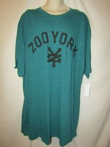 mens-zoo-york-skater-t-shirt-3XLT-nwt-classic-logo-teal-heather