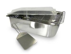 Stainless Steel Deep Roasting Pan W Lid Lasagna Pan