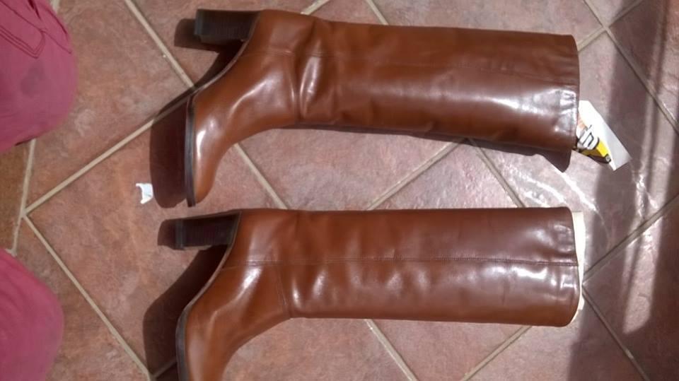 Stivali vintage marrone, originali anni '70, colore marrone, vintage numero 39 e mezzo a0f21e