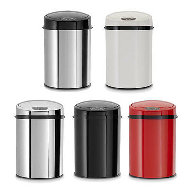 ECHTWERK Büro-/Bad-/Kosmetikabfalleimer Mülleimer mit Sensor 9L Edelstahl