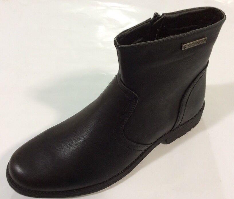 ROCAWEAR Men's Black Winter Boots ZIP UP Solid Style   ZACK-01