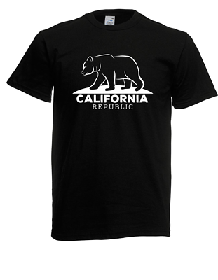 T-shirt Da Uomo California Republic Bear Dimensioni Fino A 5xl-mostra Il Titolo Originale