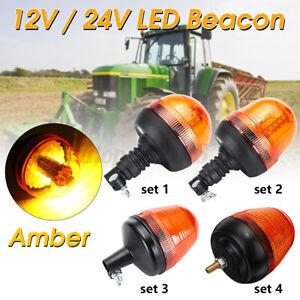 LED-lampeggiante-ambra-Beacon-DIN-Pole-Mount-trattore-strobo-spia-di