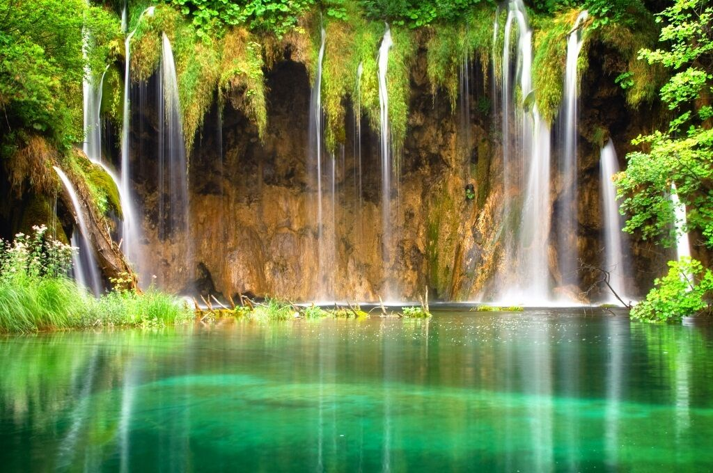 3D tropical lake verde Wall Wall Wall Paper wall Print Decal Wall Deco Indoor wall Mural e82949