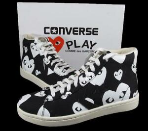 a4ad2ac60d5751 Converse x CDG Comme Des Garcons Play Hearts Pro Leather Black ...