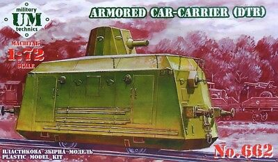 Um-mt 1/72 Railway Armored Car-carrier dtr # 662