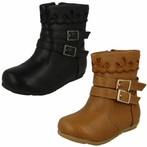 Girls Spot On Buckle Ankle Boots