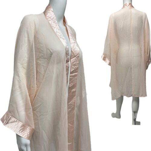 Amelias vintage women's robe long sleeve pink size