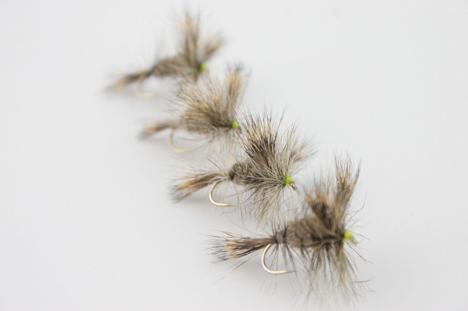 X4 & - X16 Sèche Wulffs - (éphémères) - & Taille années 10 & 12's - Trout Fishing Flies d2294b