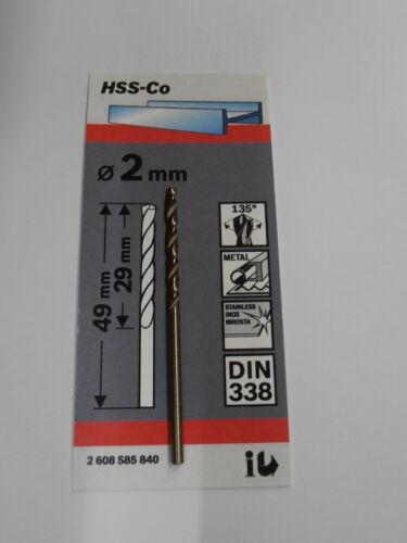 Edelstahl Bohrer Bosch HSS CO 2,0-13,0mm