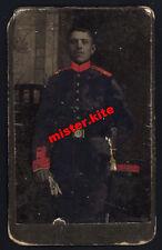 CDV-Vintage Photo Portrait-militär-soldat-säbel-M.schmidt -metz