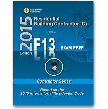 F13 National Standard Residential Building Contractor Exam Questions Workbook